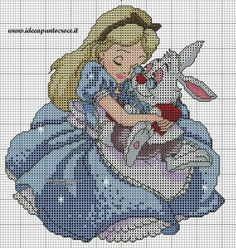 "Alice in Wonderland ""Alice & the White Rabbit"" 3 of 3"