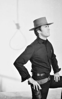 Clint Eastwood in a publicity still for Hang 'Em High, 1968.