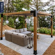 The Toja Grid offers a modern approach to style & design along with affordability, quick assembly, and quality craftsmanship. With sizes ranging from to the design and creative possibilities are endless. Building A Pergola, Pergola With Roof, Outdoor Pergola, Backyard Pergola, Pergola Kits, Backyard Landscaping, Pergola With Shade, Backyard Gazebo, Corner Pergola