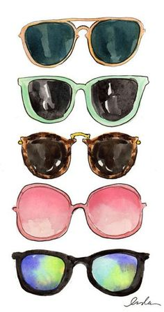 These sunglasses were watercolored, but, I felt they were a good example of different color reflections.