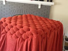 It all started with a picture... I saw an ottoman that I liked online...but there was no way to get it. It wasn't sold in stores. So,... Diy Ottoman, Upholstered Ottoman, Diy Dollhouse, Dollhouse Furniture, Diy Cushion, Diy Flooring, Diy Home Decor, Upholstery, Cushions