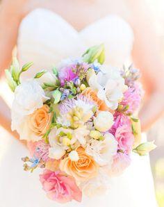 Brautstrauß in zarten Farben