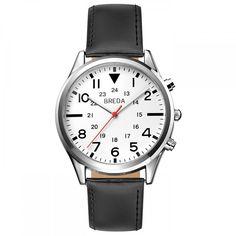 Men's  2384A Watch In Black | Breda Watches
