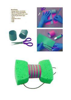 Een feestelijke vlinderstrik voor kinderen gemaakt van een spons! #36 #voordeelfan #40diyKruidvat