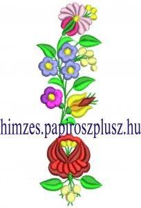 kalocsai  ruha | Kalocsai hímzésminta 310-10 | Gépi Hímzés Etyeken