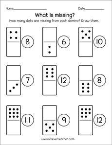 Dominoes activities and worksheets Numbers Preschool, Math Numbers, Preschool Math, Math Classroom, Teaching Math, Maths, Kindergarten Math Worksheets, Math Resources, Math Activities