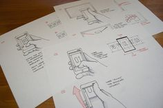 Time Warner Cable - Changing Channels - Mobile Wireframe Sketch with Gestures by jamesstark, via Flickr