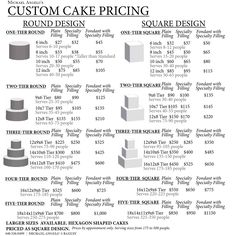 how to price custom cakes