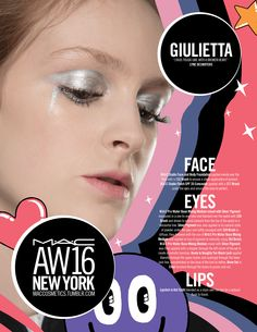 M·A·C Backstage at Giulietta AW16 NYFW. Get the look with Silver Pigment!