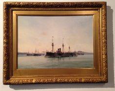 Albert Caussin. Painting.ship.marine.