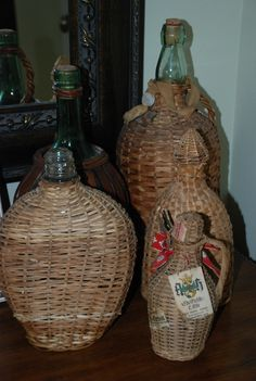 There is just something I like about basket covered bottles....