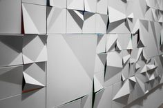 Jerzy Goliszewski at work with a beautiful wall installation Niche Design, Wall Design, Wall Patterns, Textures Patterns, Architectural Pattern, Donor Wall, Plaster Art, Digital Fabrication, Painting Collage