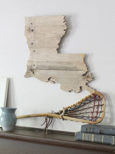 LA Timber // Wooden Louisiana made from reclaimed lumber in the USA