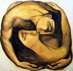 Igor Rutter (2006). Pittore russo contemporaneo. Un abbraccio che si trasforma in una fusione. Come nel simbolo dello yin e dello yang, una polarità si fonde nell'altra e viceversa.