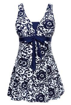 28009fa9a9 WantDo Women s Swimsuit Plus Size Swimwear One-Piece Bathing Suit(FBA) at  Amazon