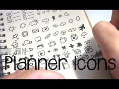 PLANNER ICON PRINTABLES AVAILABLE AT: SARAZOREL.ETSY.COM :) Hello! If you are a planner nerd, I'm pretty sure you have heard of or own a set of planner stamp...