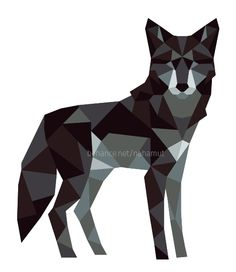Another for the Lowpoly animals series. I love wolves so much!