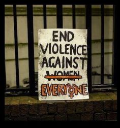 End violence against everyone. Feminists say they want to be equal to men, yet they place themselves above men. How does that make sense?