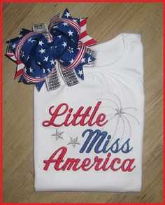 Little Miss America 4th Of July Patriotic by SouthernBelleBows, $32.00