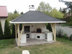 Outdoor kitchens are the perfect way to enhance patios, yards and outdoor spaces. Most homeowners also consider paradise outdoor. Outdoor Kitchen Patio, Casa Patio, Pizza Oven Outdoor, Outdoor Kitchen Design, Outdoor Cooking, Backyard Hammock, Backyard Plan, Backyard Patio Designs, Backyard Landscaping