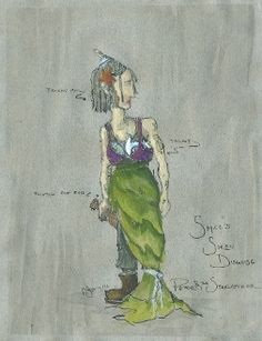 """""""Peter and the Starcatcher"""" Original Costume Design,Paloma Young Tony Award Peter And The Starcatcher, Costume Design, Gouache, Original Paintings, Costumes, The Originals, Drawings, Inspiration, Tony Award"""