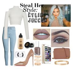 """""""Steal Her Style: Kylie Jenner"""" by littlewond3rland ❤ liked on Polyvore featuring H&M, Jonathan Simkhai, Gucci, Michael Kors, MAC Cosmetics, Essie, Christian Louboutin, Cartier, StreetStyle and jenner"""