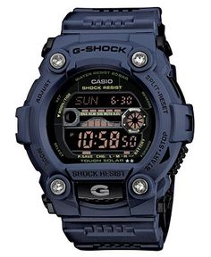 G-Shock Watch, Men's Digital Navy Resin Strap 53x50mm GR7900NV-2 - All Watches - Jewelry & Watches - Macy's