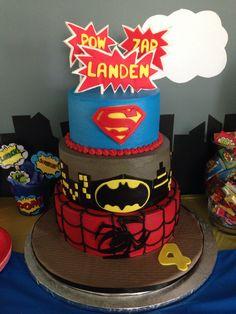 Superhero birthday cake! Was a hit :)