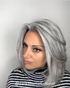 100 dark hair with heavy platinum highlights perfect when youre going grey page … – Going Gray Hair 2020 Grey Hair Video, Grey Hair Wig, Long Gray Hair, Blonde Hair, Brown To Grey Hair, Grey Hair Over 50, Grey Hair Care, Blonde Balayage, Grey Hair Styles For Women