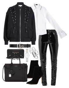 """Untitled #3474"" by theeuropeancloset ❤ liked on Polyvore featuring Anthony Vaccarello, IRO, ALDO, Gucci, Balenciaga, Yves Saint Laurent, Forever New and Kendra Scott"
