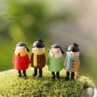 1 Pcs menina dos desenhos animados mini pessoas de fadas em miniatura gnomo de jardim japonês musgo terrário decoração artesanato decoração de casa bonsai para DIY