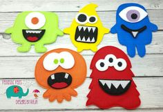 Monster building set game embroidered felt board by DesignsByRAJA