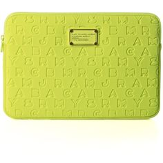 "Marc by Marc Jacobs Dreamy logo 11"" laptop case ($59) ❤ liked on Polyvore"