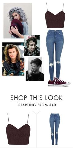"""""""Whose this Shadow holding me hostage"""" by lvishkai on Polyvore featuring Topshop, Converse, women's clothing, women's fashion, women, female, woman, misses and juniors"""