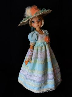 """SOLD """"Edwardian Gardens""""Dress,Outfit,Clothes for 18""""Kaye Wiggs MSD BJD"""