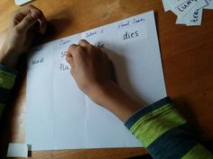 Quick and easy Syllable Sort activity