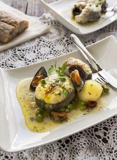 La cocina de Frabisa: Receta de Merluza Gallega del Pincho con Mejillones en salsa verde