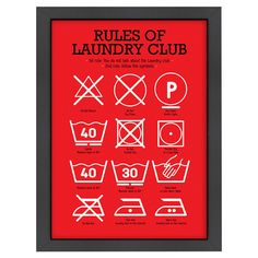 rules of laundry print