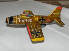 Japanese Tin German Airplane 1950's Very RARE