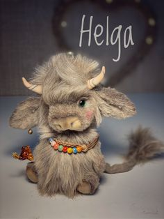 Jute Crafts, Felt Crafts, Highland Cow Art, Cute Fantasy Creatures, Cute Stuffed Animals, Fabric Toys, Cute Toys, Sewing Toys, Reno