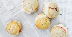 These delicious Strawberry Pie Ice Cream Sandwiches are a genius mix