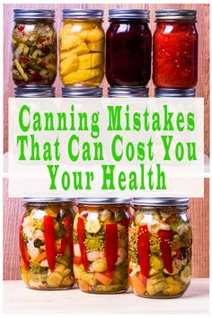 Be careful of these canning mistakes that can cost you your health. Read this canning guide for tips for beginners and tips that could save your health. Easy Canning, Canning Tips, Canning Pears, Home Canning Recipes, Cooking Recipes, Pressure Canning Recipes, Canning Food Preservation, Preserving Food, Canning Vegetables