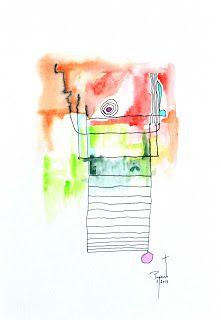 coisas de pintura: mixed media on paper - 2017 - portugal
