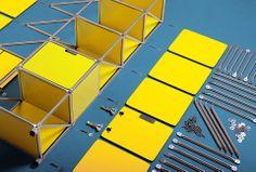 modular furniture I shelf I interior I home I office I living I design I inspiration I yellow I blue I spring I System 180 - Made in Berlin