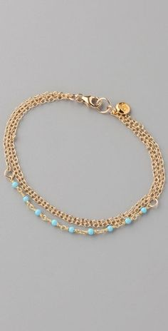 gorjana gold plated bracelet with turquoise beads... pretty! want