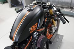 '01 Harley Davidson Sportster - DP Customs.   The explosion of the custom bike seen means there are literally millions of aftermarket parts on the market to fit to your bike. The only problem is the temptation can be to order half the catalogue, have no design plan and throw it all on your bike and end up with a squashed fruit salad like mess. That's never been a problem for DP Customs of...