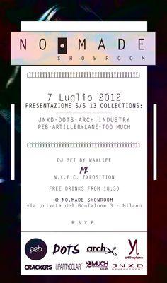 7 Luglio 2012 @ NO.MADE Showroom - Milano  // Presentazione delle collezioni artillerylane™ & Nalle Pedersen™ Spring Summer 2013