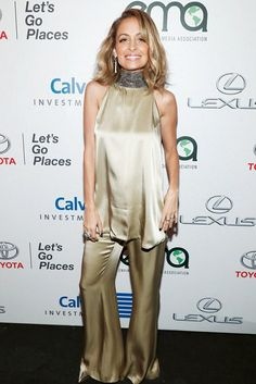 Nicole Richie wearing Galvan Joshua Tunic and Galvan Joshua Pants