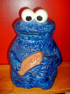 Vintage Cookie Monster Cookie Jar - Muppets Inc, 970 - Great ...we had one of these growing up.....mom still has it!
