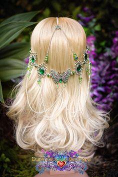 Farfalla verde smeraldo sogno cerchietto di BlingGoddessBoutique